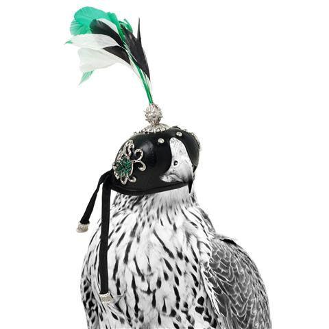 A Closeup Of Jewellery Artist Sabine Roemer S Bespoke Piece Falcon Hood Falconry Equipment Falconry