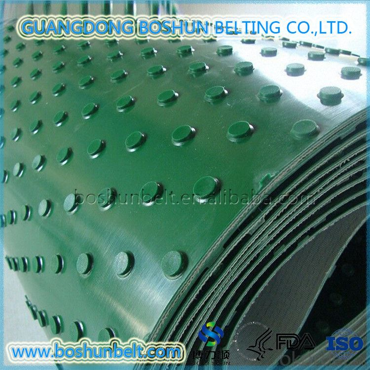High Quality Round Pin Point PVC Conveyor Belt for Stone/Wood