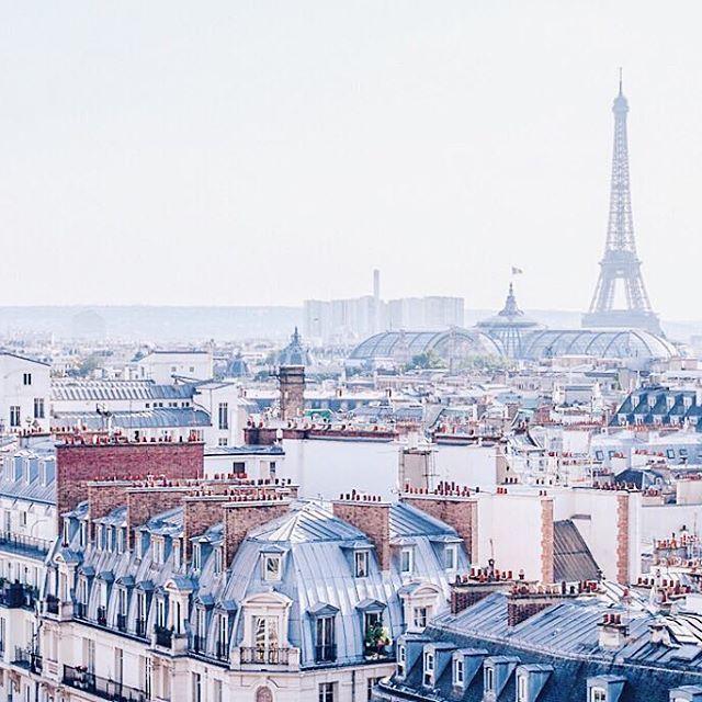 Oh, #Paris - see you soon! ✨ #traveldreams #wanderlust #citylife #getaway #eiffeltower #rooftopview #parisian