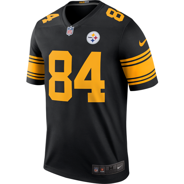 Picture of Pittsburgh Steelers Nike  84 Antonio Brown Color Rush Legend  Jersey T-Shirt d436567f2