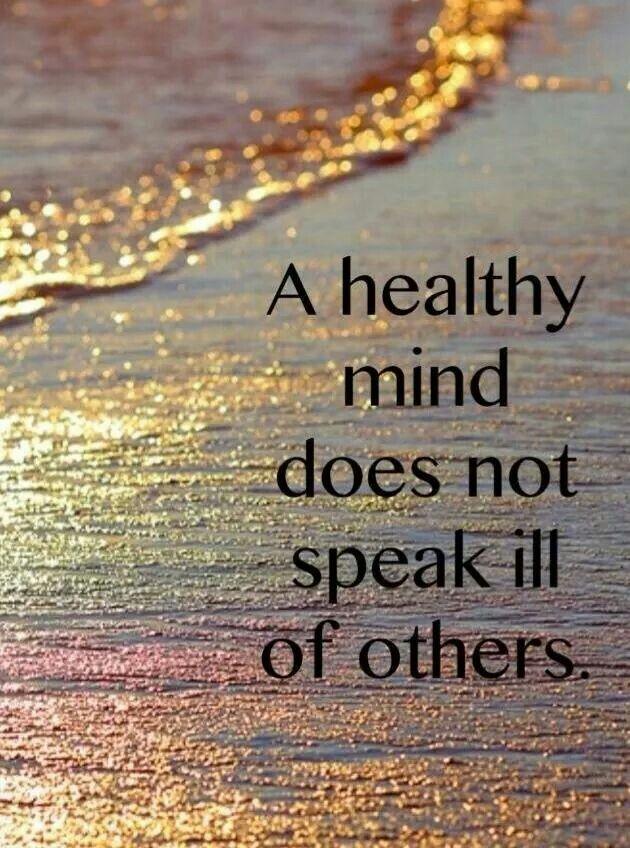 A healthy mind.