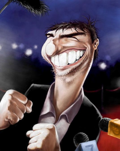 Caricature Tom Cruise