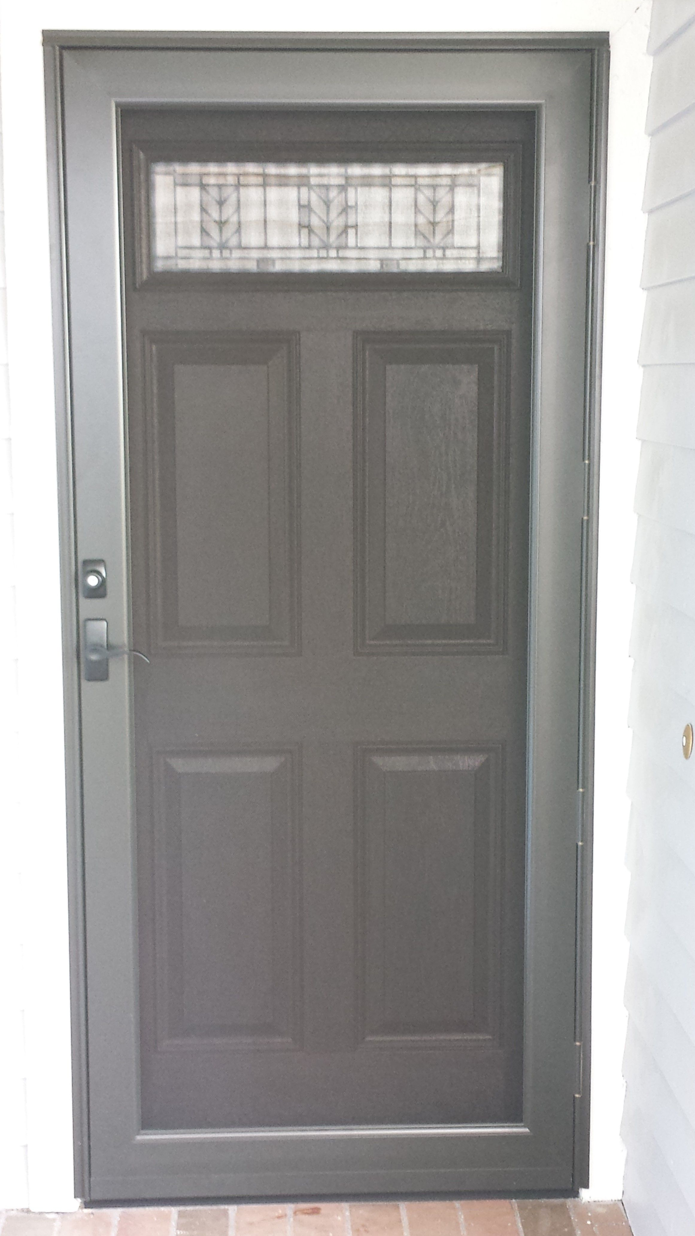 Single front door with screen, let the fresh air in.....like the colour