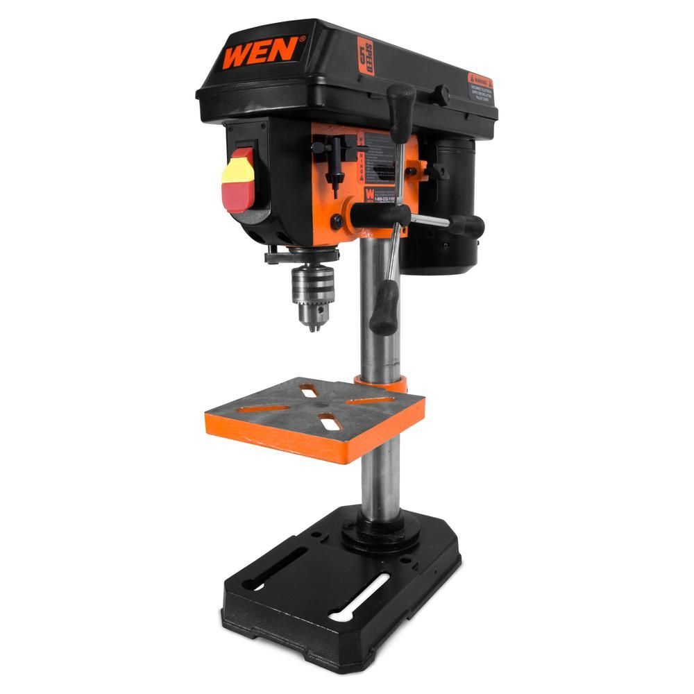 Ryobi 10 in Drill Press with Laser Mark Table Top Drilling Tool 5-speed Wood