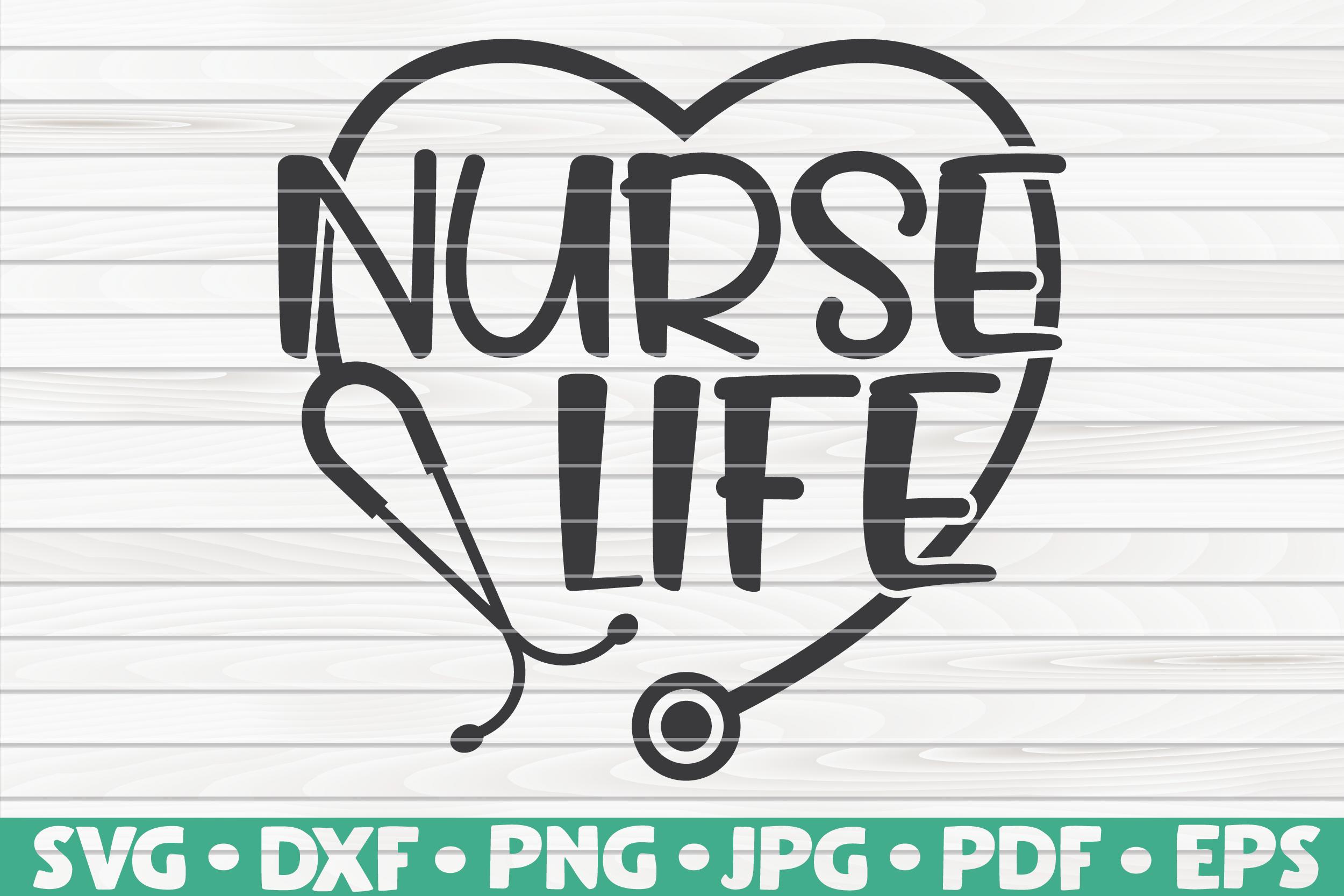 Nurse Life SVG By HQDigitalArt