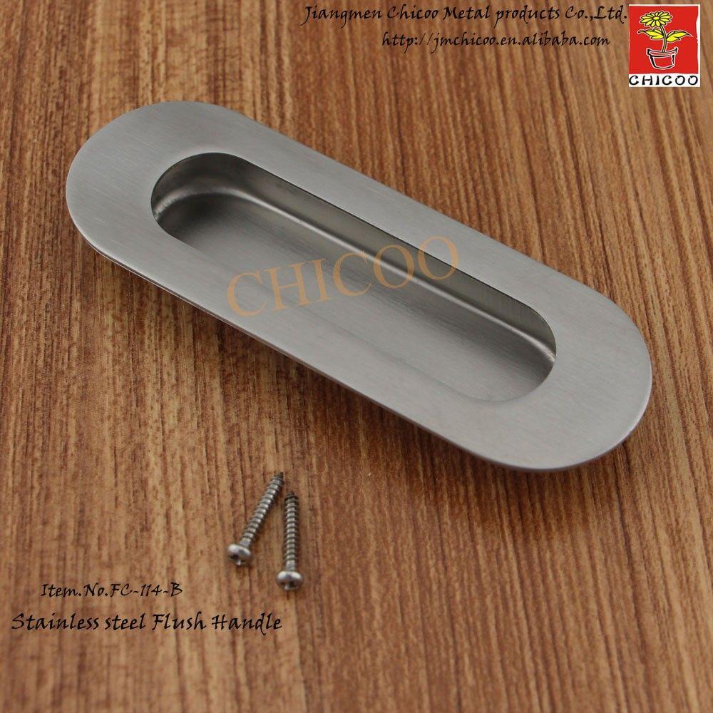 cheap modern design furniture elliptical shape Flush Pull Handle ...