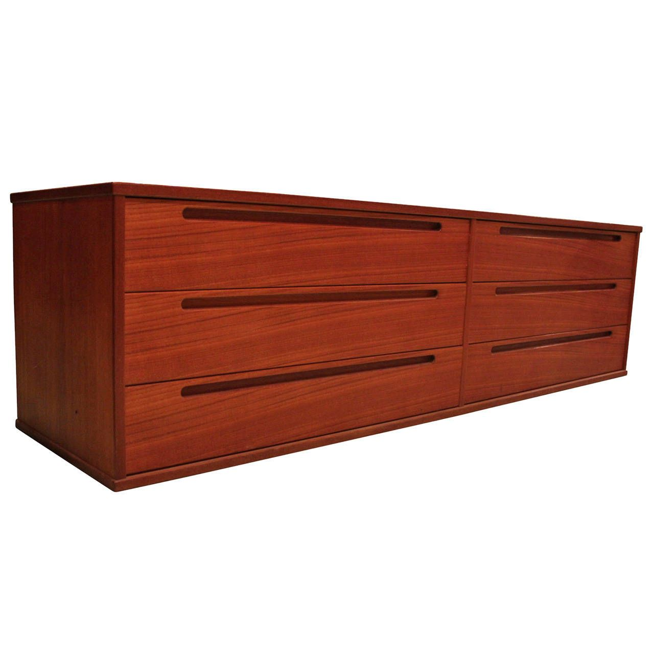 Best Long And Low Danish Teak Dresser From A Unique 400 x 300