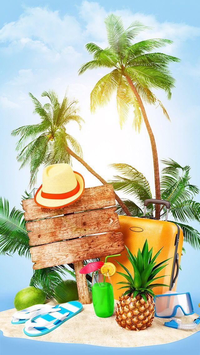 Oboi Iphone Wallpaper Summer Tropicheskij Raj Tropicheskie Plyazhi