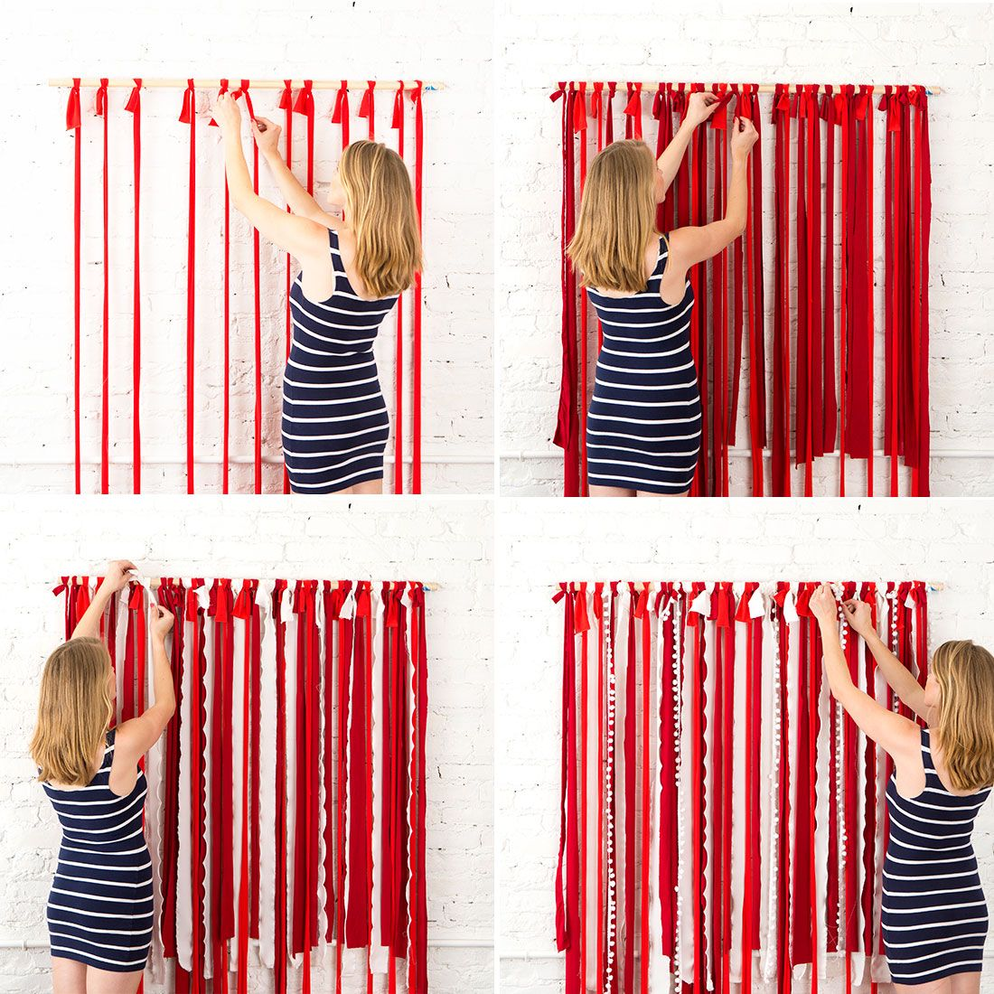 How to make a fabric backdrop - Make This Instagram Worthy Photo Booth Backdrop For Your 4th Of July Party