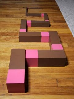 Of all the things I've posted about on this blog, nothing has sparked more interest than the free  pink tower/brown stair extensions  we set...