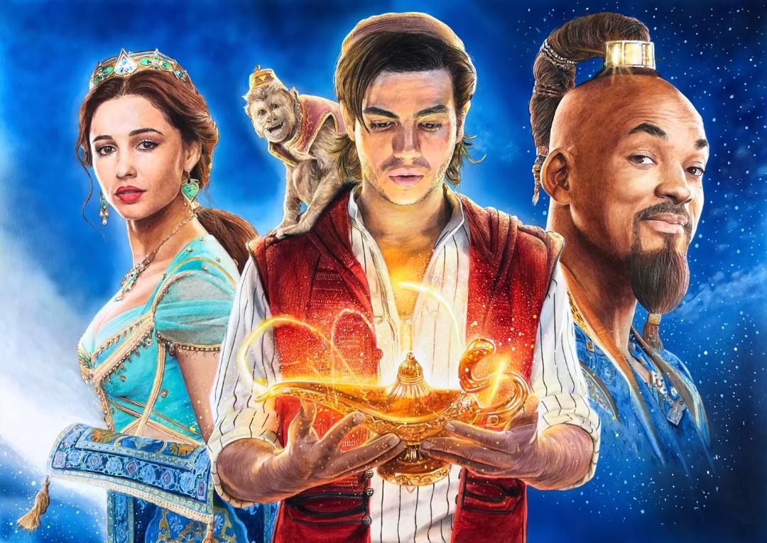 Aladdin Artwork Marvel Characters Art Mixed Media Artwork Aladdin