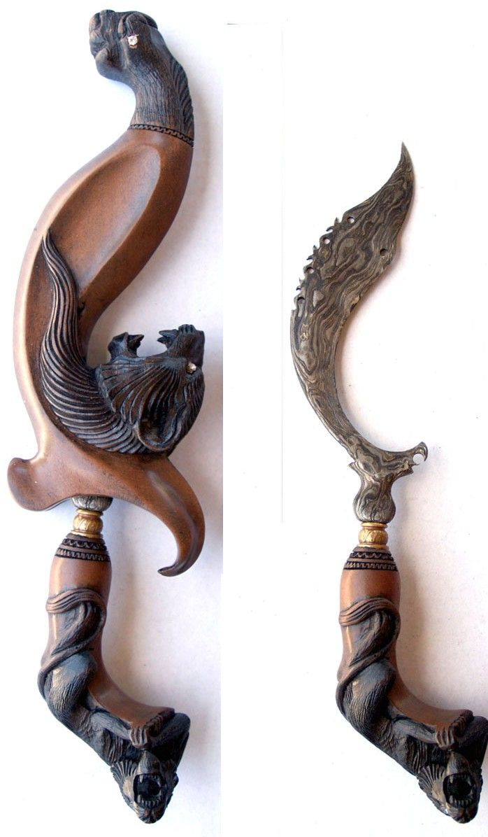 Kujang a traditional weapons from West Java, Indonesia
