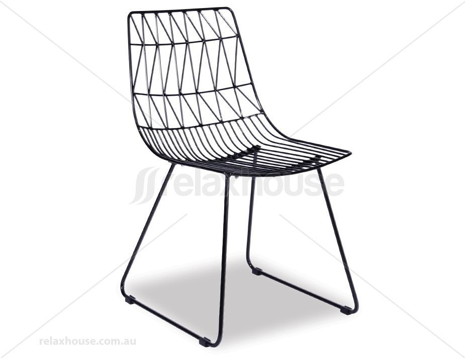 Kas Modern Wire Dining Chair Black Replica Bend Chair Indoor