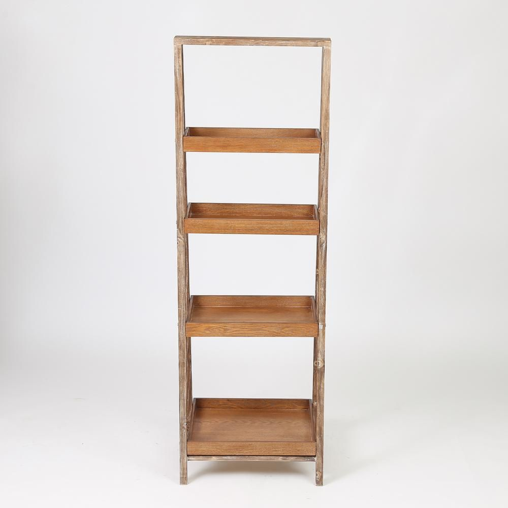 Winsome House 60 In Natural Etagere Bookcase Etagere Bookcase