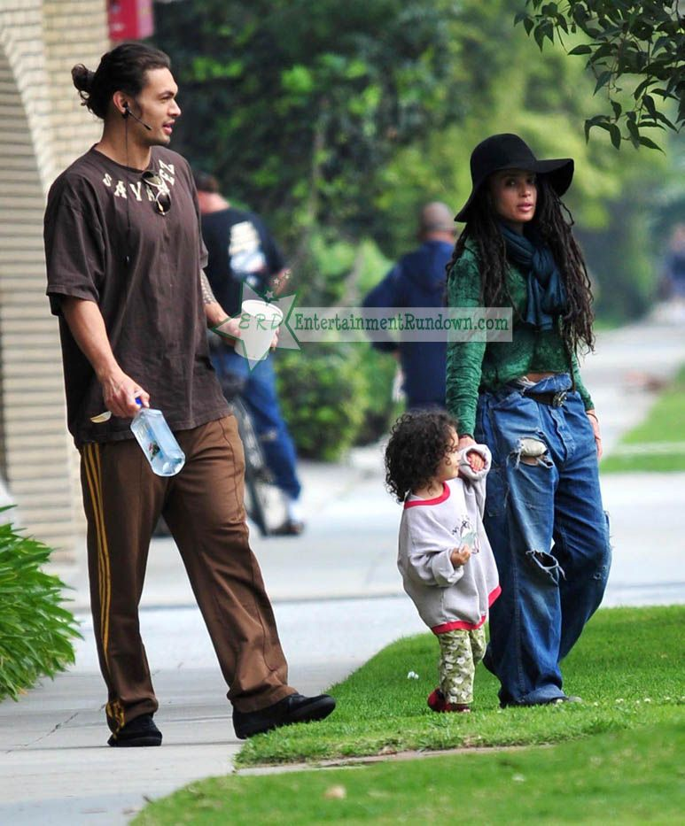 Jason Momoa Takes A Stroll With His Kids: EXCLUSIVE: Lisa Bonet And Jason Momoa Out For A Family