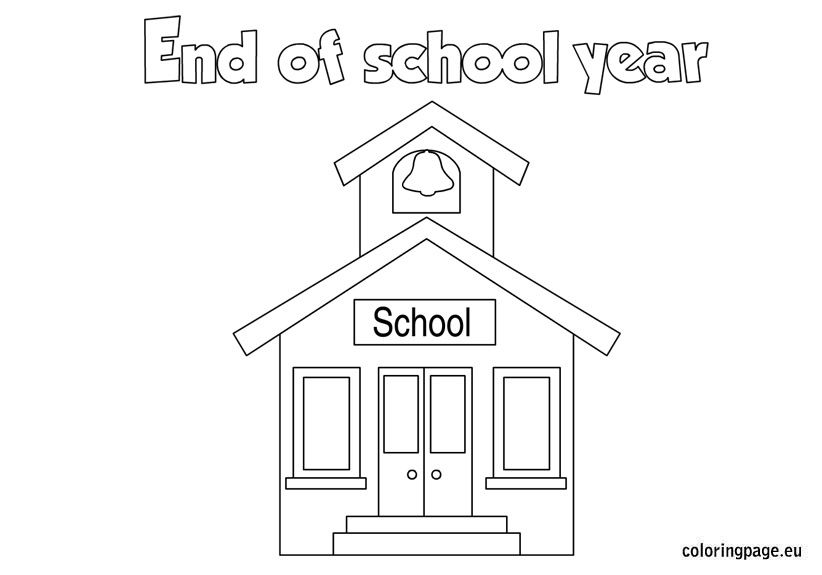 End of the School Year coloring page | Color worksheets ...