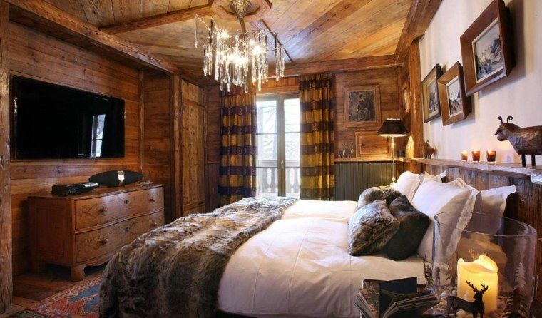 Beautiful Chambre Style Chalet Montagne Pictures