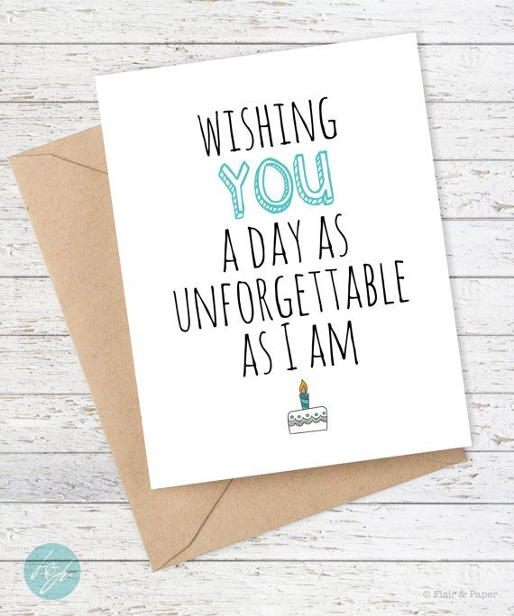 Funny Birthday Card Boyfriend Girlfriend Card By FlairandPaper