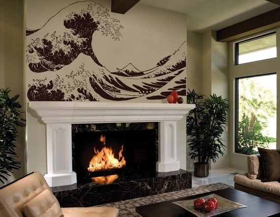 Wall Decal Over Fireplace | Love This Wall Decal Above Fireplace, Or Maybe  For Master Part 26