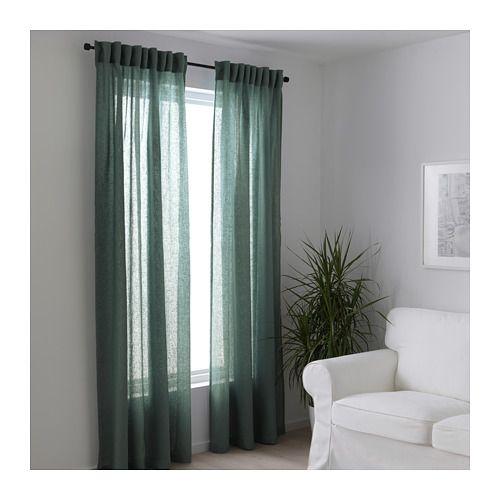 LEJONGAP Curtains, 1 pair, green | Bedroom color combination ...