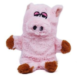 Kyjen Plush Puppies Invincibles Pink Mini Pig They Squeaking When
