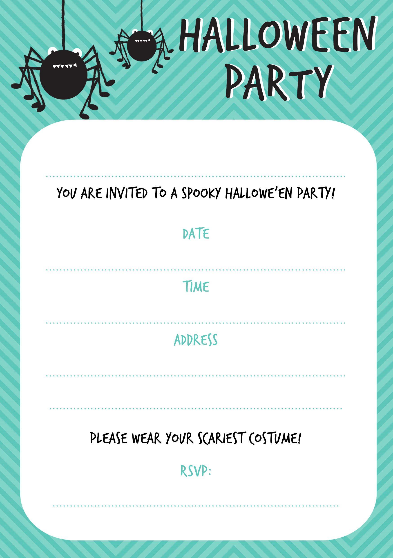 free printable halloween invitations halloween pinterest