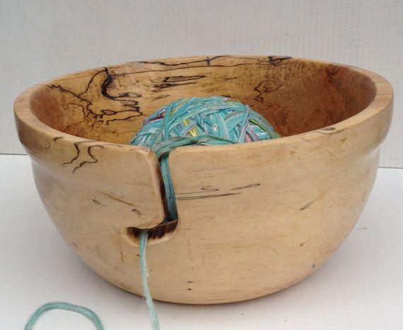 Wooden Knitting Wool Holder : Wooden yarn bowl maple woodturning knitting crochet sewing