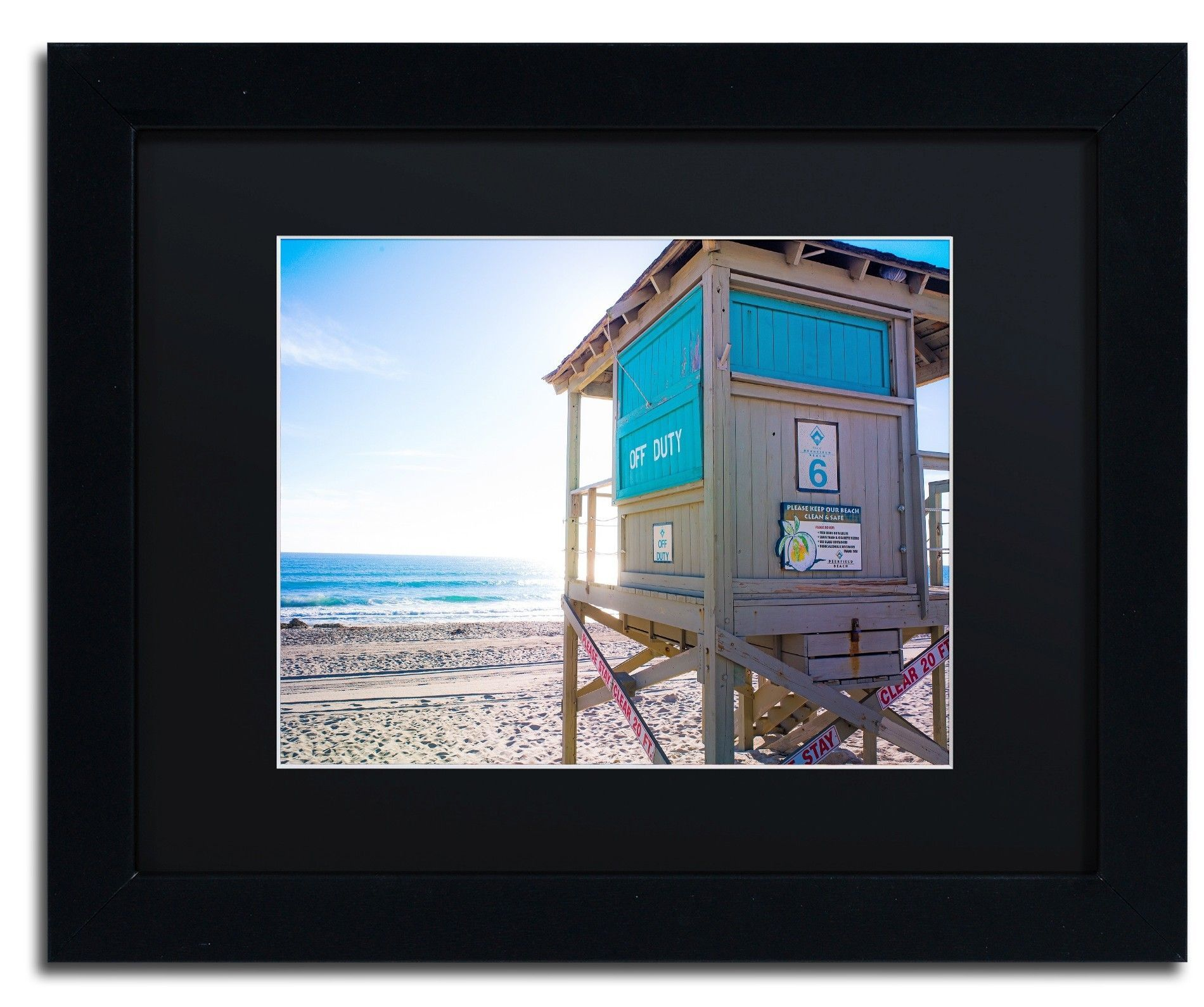 Florida Beach Guard by Preston Framed Photographic Print