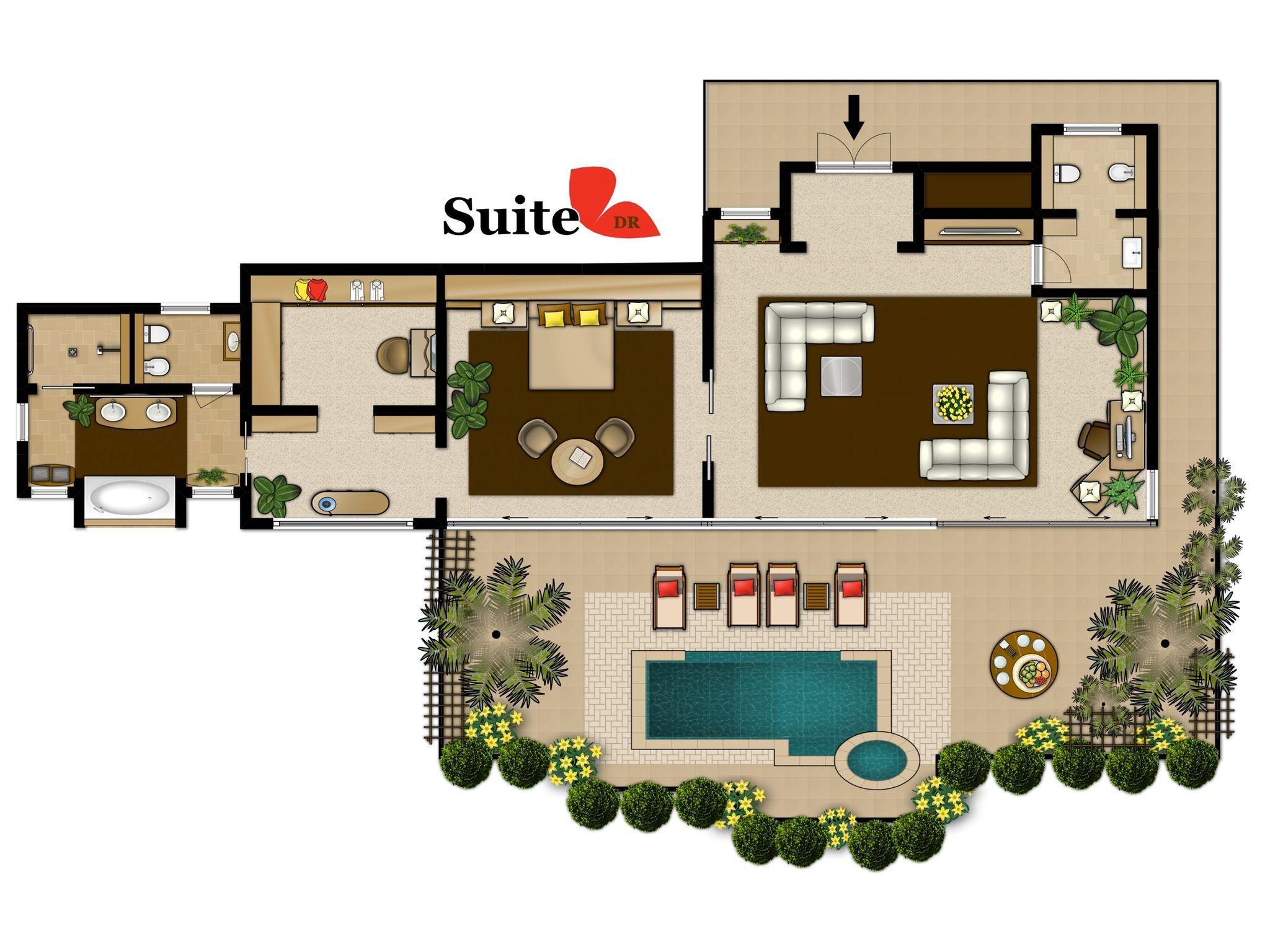 Grundriss Suite