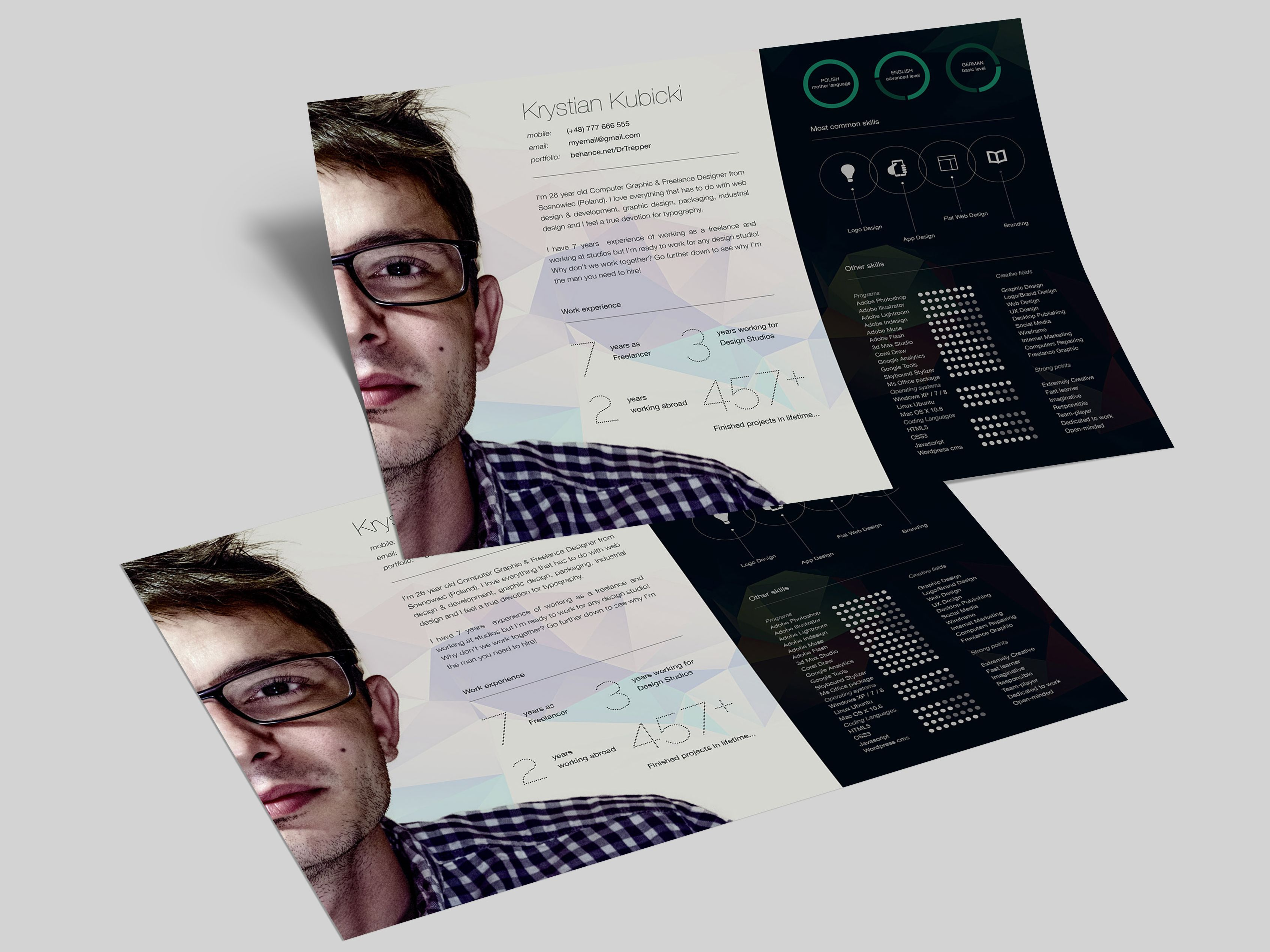 24+ Photoshop resume template free psd trends