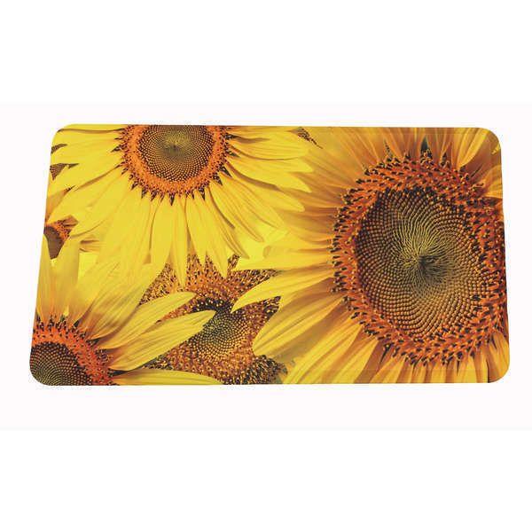 Somette Sunflower Memory Foam Indoor Kitchen Mat Anti Fatigue Floor Rug 18  X 30 #
