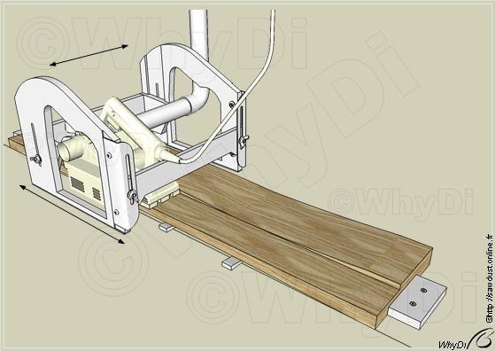 sawdust raboteuse d gauchisseuse portable outils. Black Bedroom Furniture Sets. Home Design Ideas