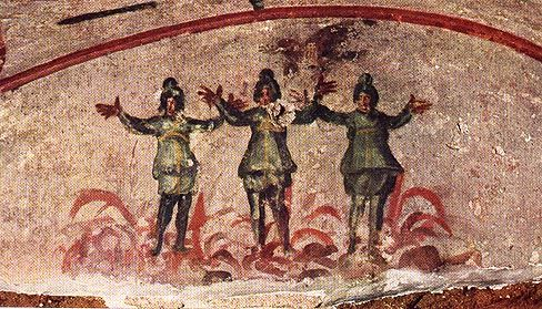 The Three Youths In The Fiery Furnace 3rd C Ad Mural Catacomb