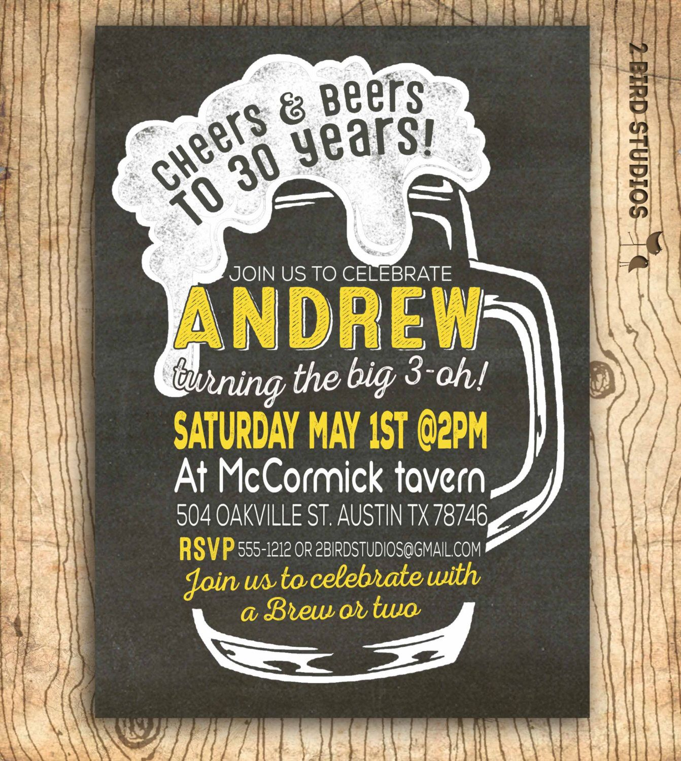 th birthday invitation cheers and beers to years invitation