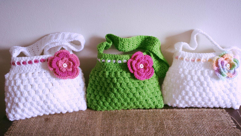 Häkeln Kinder Tasche mit Blume häkeln von AssetCreations auf Etsy ...