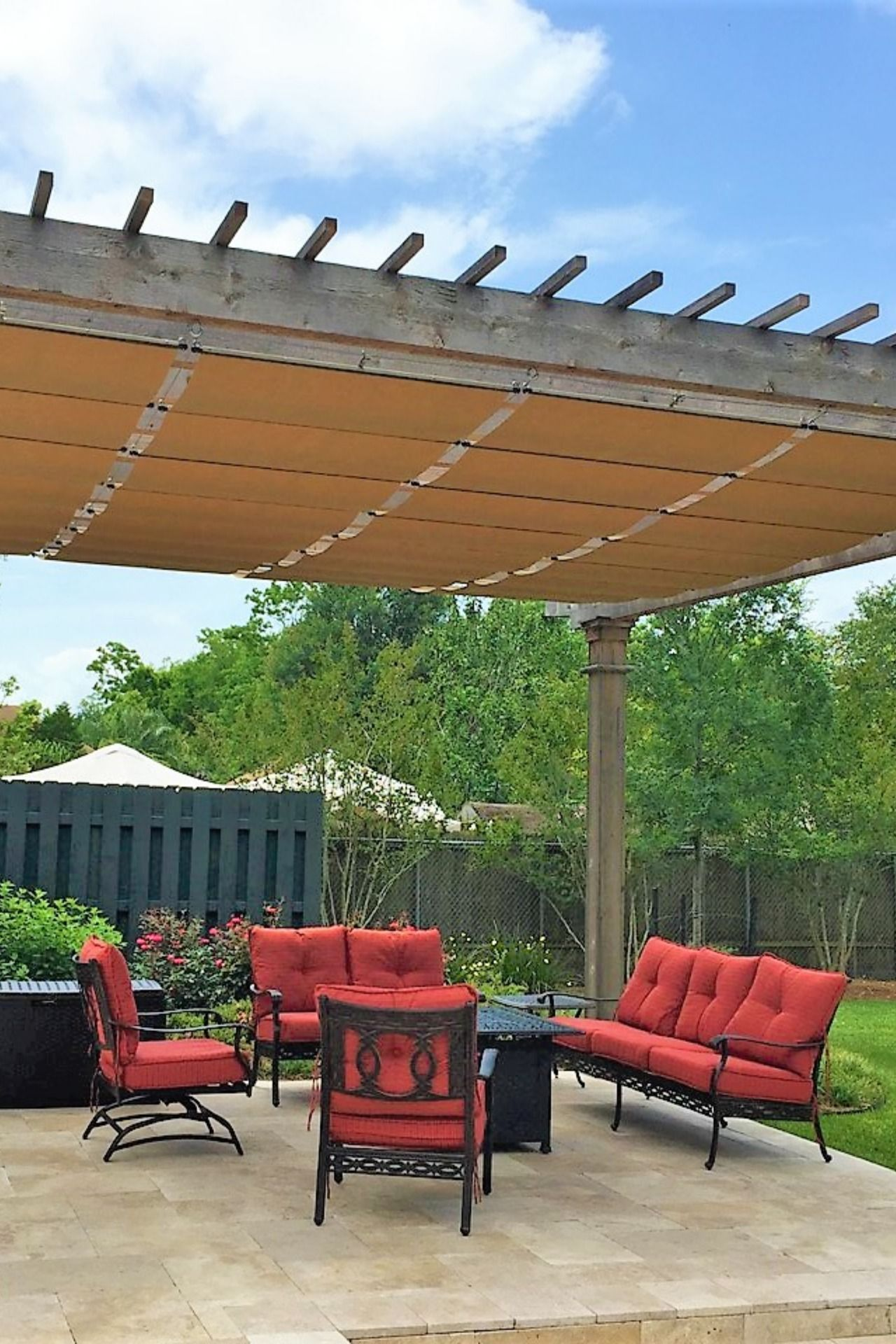 These Are Made From The Top Grade Sunbrella Marina Waterproof Fabrics With 100 S Of Available Colors And Patterns Pergola Shade Cover Pergola Beautiful Patios