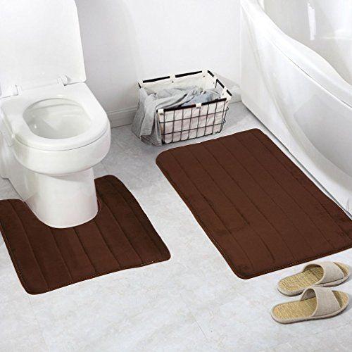 Bathroom Memory Foam Mat, 2 in 1 Non Slip Bath Shower Mat