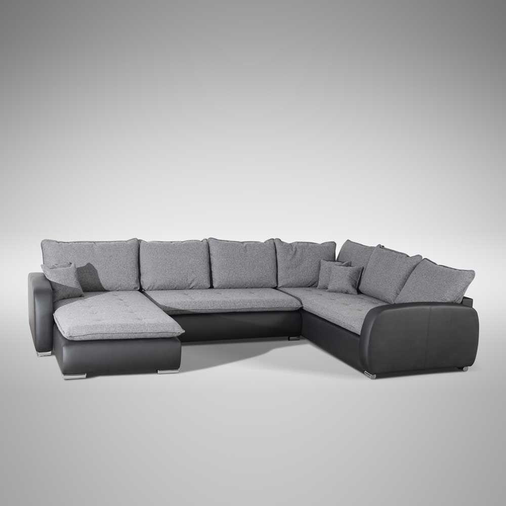 U Form Couch In Grau Schwarz Modern Moebel Suchmaschine Ladendirekt De Couch Sofa U Form Rundes Sofa
