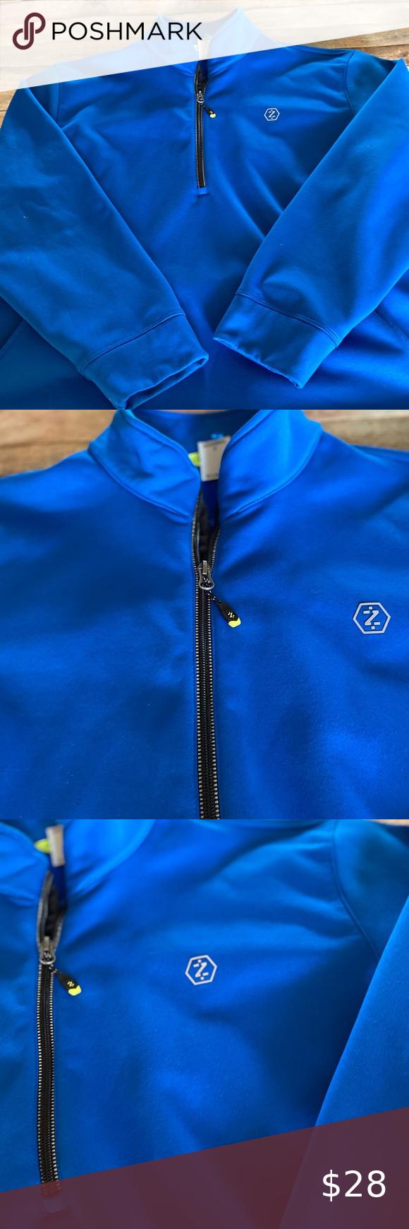 Izod Performx Men S Blue Half Zip Jacket Size Xl Zip Jackets Jackets Half Zip [ 1740 x 580 Pixel ]