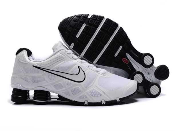 Trainers - Nike Air Shox Turbo 12 Mens Mesh White Black Black Friday