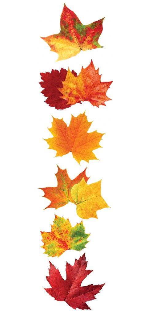 Autumn Leaves 3D Sticker Paper House papelitos locos Pinterest