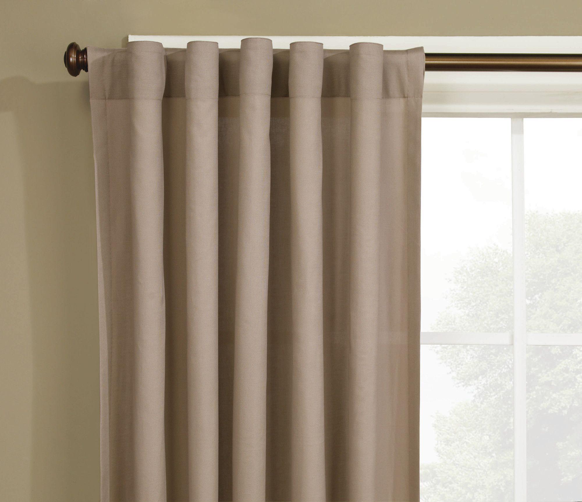 Cotton Duck Single Curtain Panel