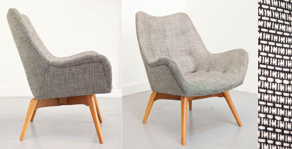 Martel Upholstery Melbourne 1950s Australian Featherston Television B210h Chair In Mokum Souk Ebony Furniture Modernist Furniture Mid Century Furniture