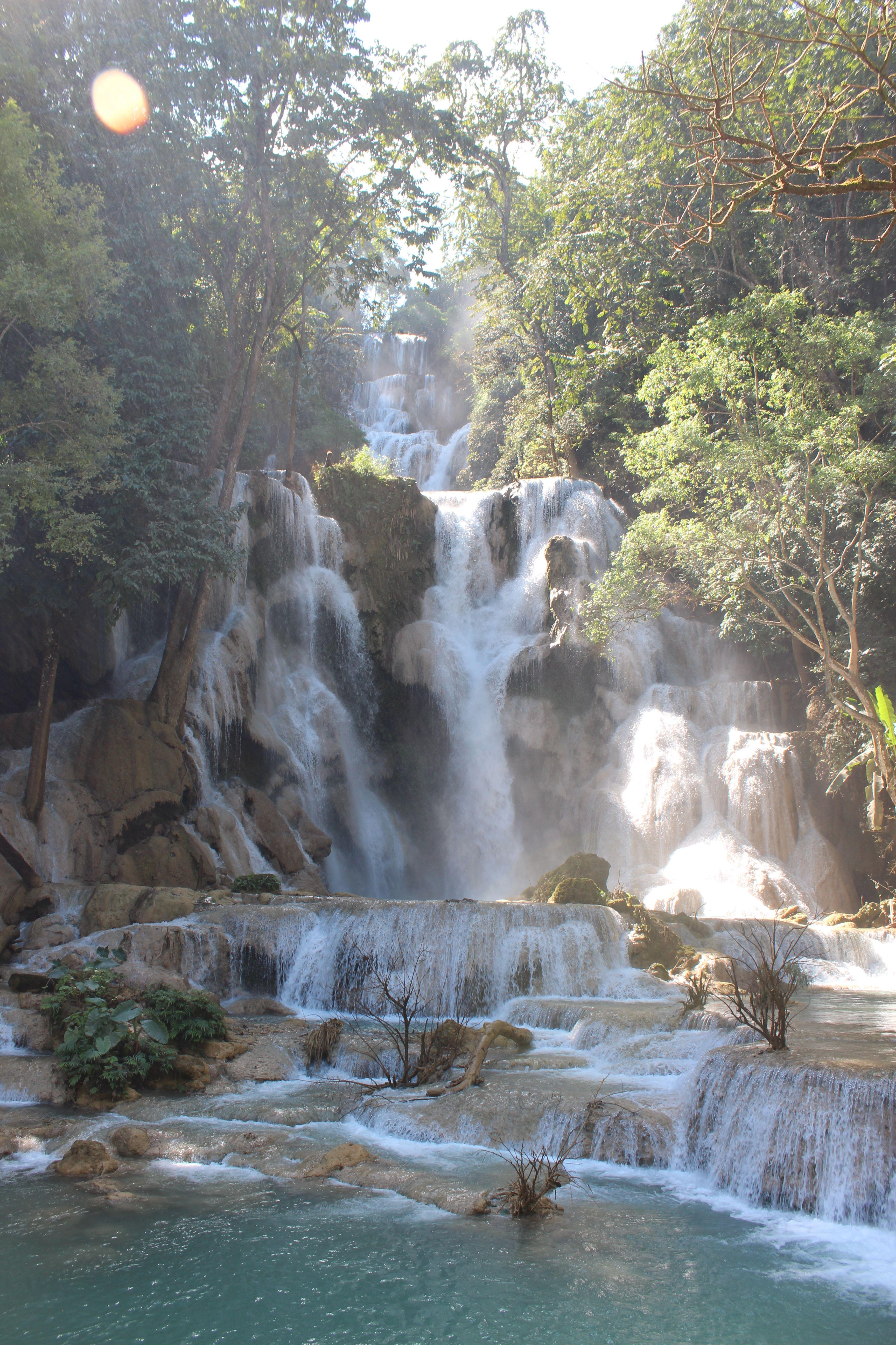 Tat Kuang Si Falls Luang Prabang Laos The Tat Kuang Si Falls