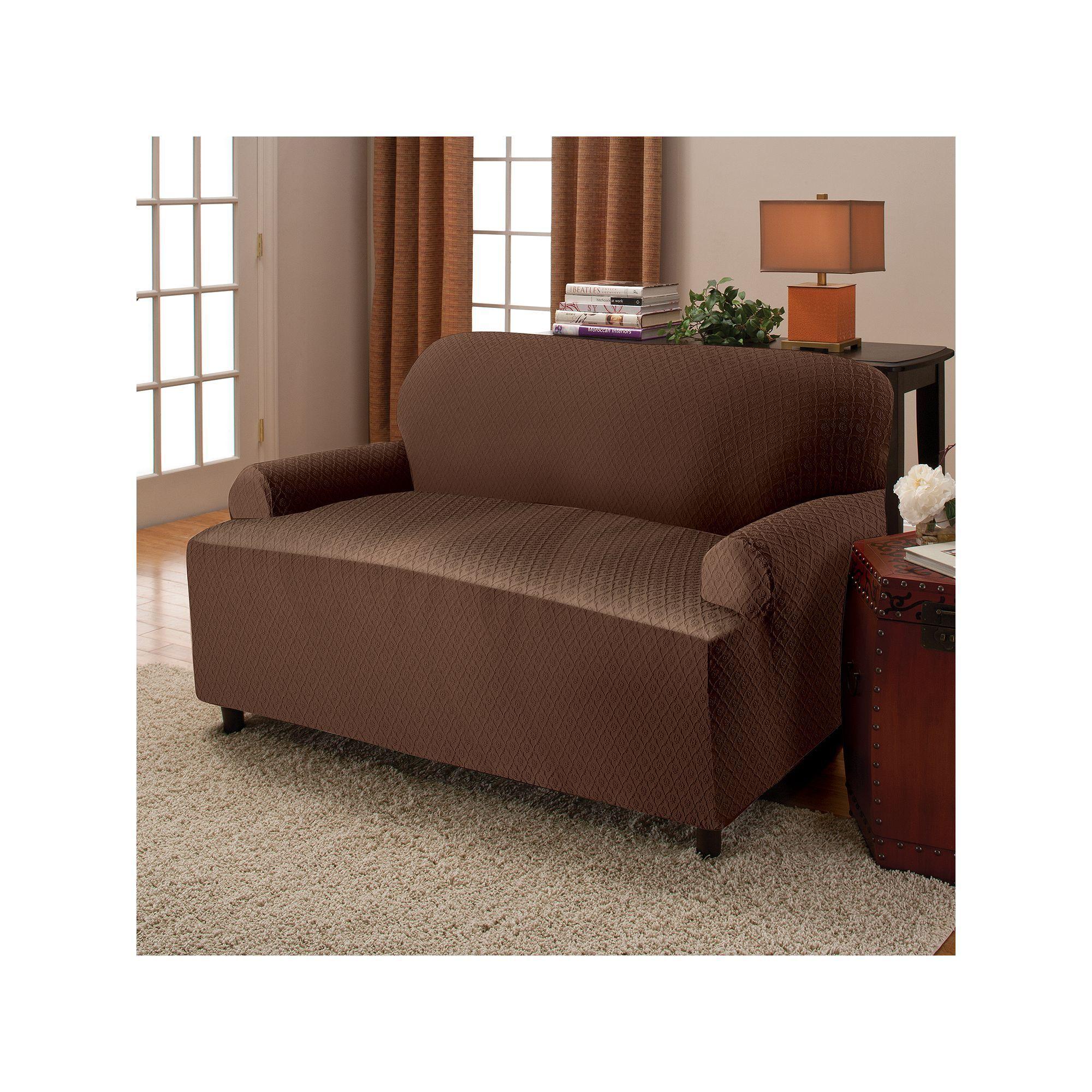 Stretch Sensations Victoria Stretch T Cushion Sofa Slipcover