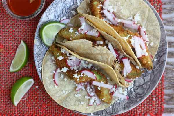 a cozy kitchen - fried avocado tacos