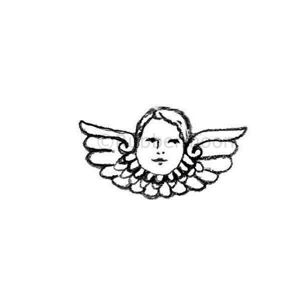 Milagros   El Angel - KP5324E - Rubber Art Stamp