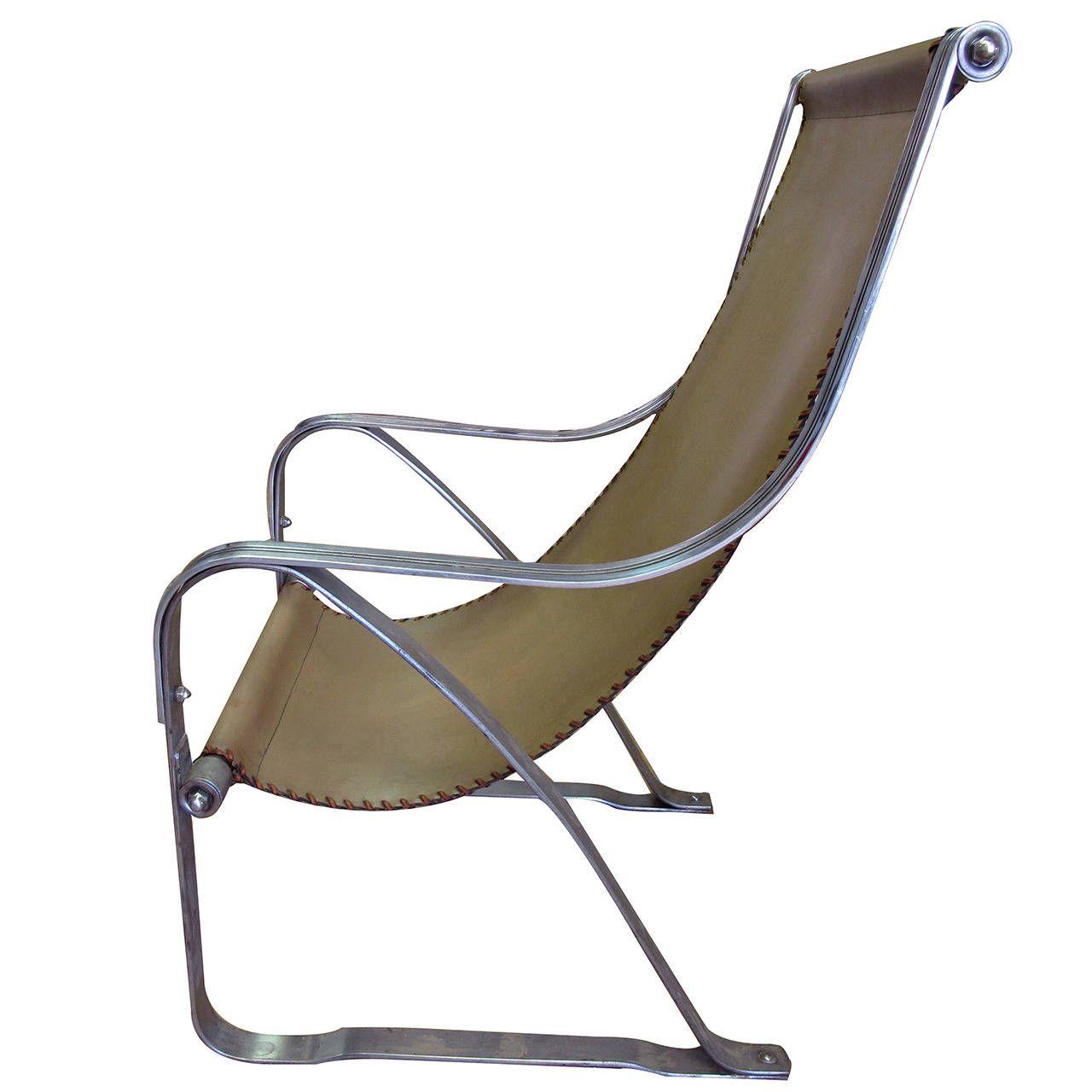 A Rare American Machine Age Art Deco Spring Chair By John McKay