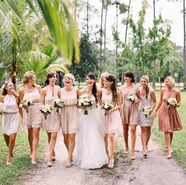 nude-Brautjungfernkleider-verschiedene-modelle-eine-nuance ...