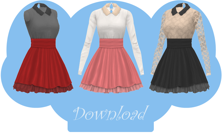 2f97dde4192f [MMD] COLLARED DRESS [+DL] by Sims3Ripper.deviantart.com on @DeviantArt